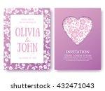 vector invitation  or wedding ... | Shutterstock .eps vector #432471043
