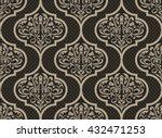 vector damask seamless pattern... | Shutterstock .eps vector #432471253
