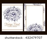 vintage delicate invitation... | Shutterstock .eps vector #432479707