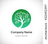 logo vector with green tree... | Shutterstock .eps vector #432492397