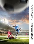 soccer players in action on... | Shutterstock . vector #432493273