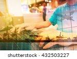 double exposure of man with... | Shutterstock . vector #432503227