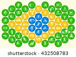 icons of summer sports in... | Shutterstock .eps vector #432508783