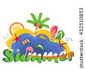 summertime traveling template... | Shutterstock .eps vector #432510853