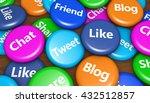 social media and social network ... | Shutterstock . vector #432512857