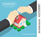 isometric businessman hands... | Shutterstock .eps vector #432520087