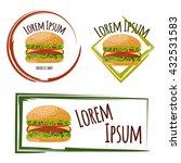 vector design of burger logo... | Shutterstock .eps vector #432531583