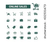 ecommerce icons  | Shutterstock .eps vector #432531673