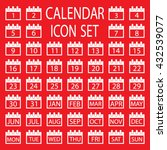 calendar icon set | Shutterstock .eps vector #432539077