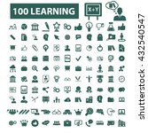 learning icons  | Shutterstock .eps vector #432540547