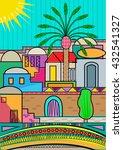 stylized jerusalem   artistic... | Shutterstock .eps vector #432541327