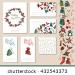 festive templates with... | Shutterstock .eps vector #432543373