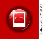photo icon. internet button on... | Shutterstock . vector #432544537