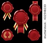 wax seal collection with red... | Shutterstock .eps vector #432548233