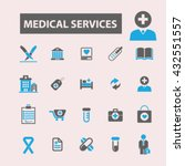 medical services icons  | Shutterstock .eps vector #432551557