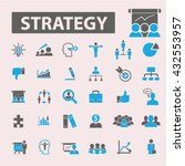 strategy icons  | Shutterstock .eps vector #432553957