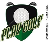 professional logo of golf club...   Shutterstock .eps vector #432556303
