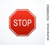 red stop sign | Shutterstock .eps vector #432560863