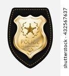 police badge. realistic vector... | Shutterstock .eps vector #432567637