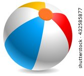 colorful beach ball vector...