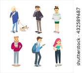 people characters. people with... | Shutterstock .eps vector #432589687