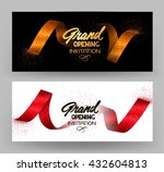 grand opening banners with gold ... | Shutterstock .eps vector #432604813