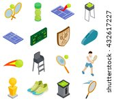 tennis icons set  isometric 3d... | Shutterstock . vector #432617227