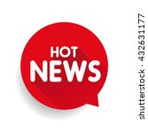 hot news icon label vector   Shutterstock .eps vector #432631177