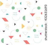 bright geometric pattern in the ... | Shutterstock .eps vector #432631693