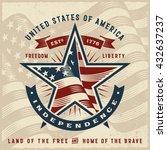 vintage usa independence label. ...   Shutterstock .eps vector #432637237