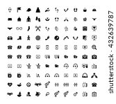 set of 100 universal icons.... | Shutterstock . vector #432639787