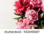 pink and red peonies flowers... | Shutterstock . vector #432640687