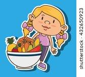 kids menu design  | Shutterstock .eps vector #432650923