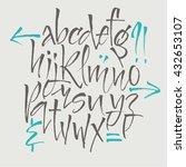 alphabet letters. lowercase.... | Shutterstock .eps vector #432653107