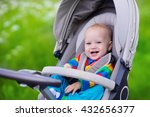 baby boy in warm colorful... | Shutterstock . vector #432656377