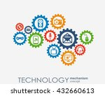 technology mechanism concept.... | Shutterstock .eps vector #432660613