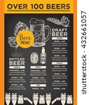 beer restaurant brochure vector ... | Shutterstock .eps vector #432661057