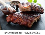 grilled pork baby ribs with...