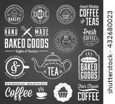 chalkboard cafe and bakery... | Shutterstock .eps vector #432680023
