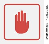 stop hand icon.