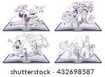 set open book fairy tale....