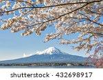 fuji kawaguchiko cherry blossom ... | Shutterstock . vector #432698917