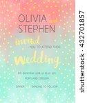 vector wedding invitation with... | Shutterstock .eps vector #432701857