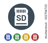 sd memory card icon isolated on ... | Shutterstock .eps vector #432706723