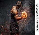 art portrait of a man with... | Shutterstock . vector #432709363