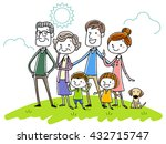 illustration material  smile... | Shutterstock .eps vector #432715747