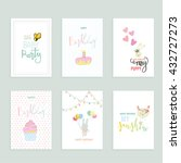 happy birthday greeting and... | Shutterstock .eps vector #432727273