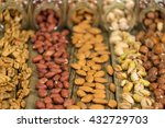 mix of nuts in the glass jars   ...   Shutterstock . vector #432729703