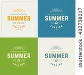 summer holidays retro... | Shutterstock .eps vector #432738217