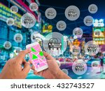 car sharing concept. sharing... | Shutterstock . vector #432743527